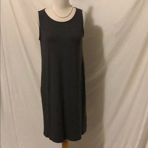 Eileen Fisher Gray midi tank dress size small